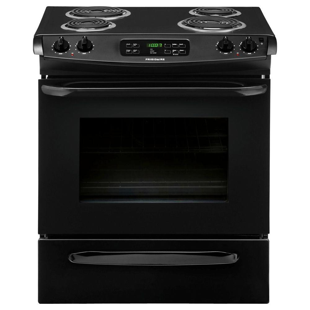 Frigidaire 4.6 cu. ft. Slide-In Electric Range with Self-Cleaning in Black