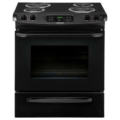 4.6 cu. ft. Slide-In Electric Range with Self-Cleaning in Black