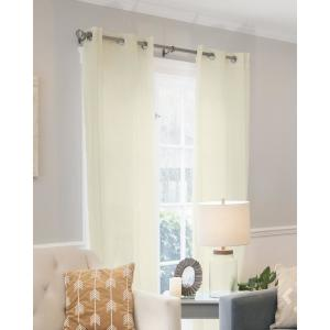 Virginia 52 in. W x 84 in. L Window Panel in Cream (2-Pack)