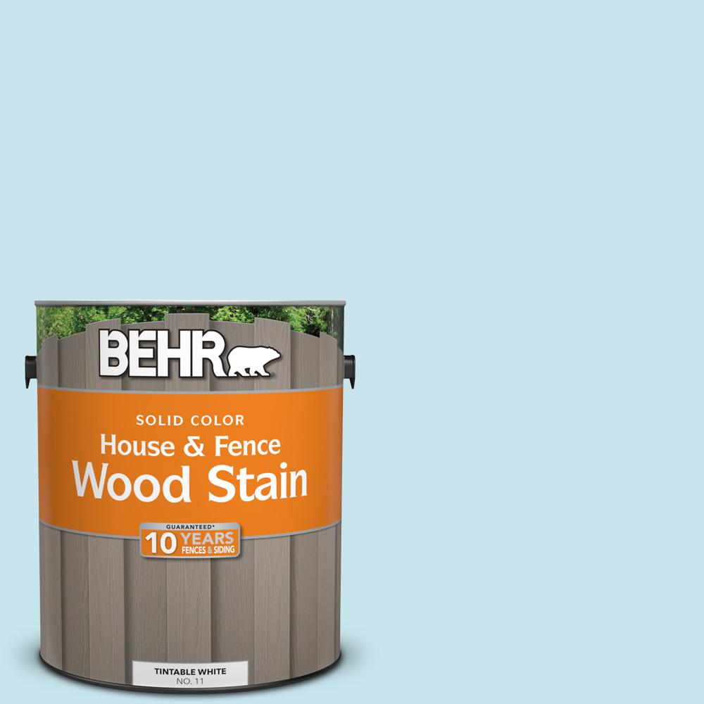 BEHR 1 gal  #M480-2 Igloo Blue Solid Color House and Fence Exterior Wood  Stain