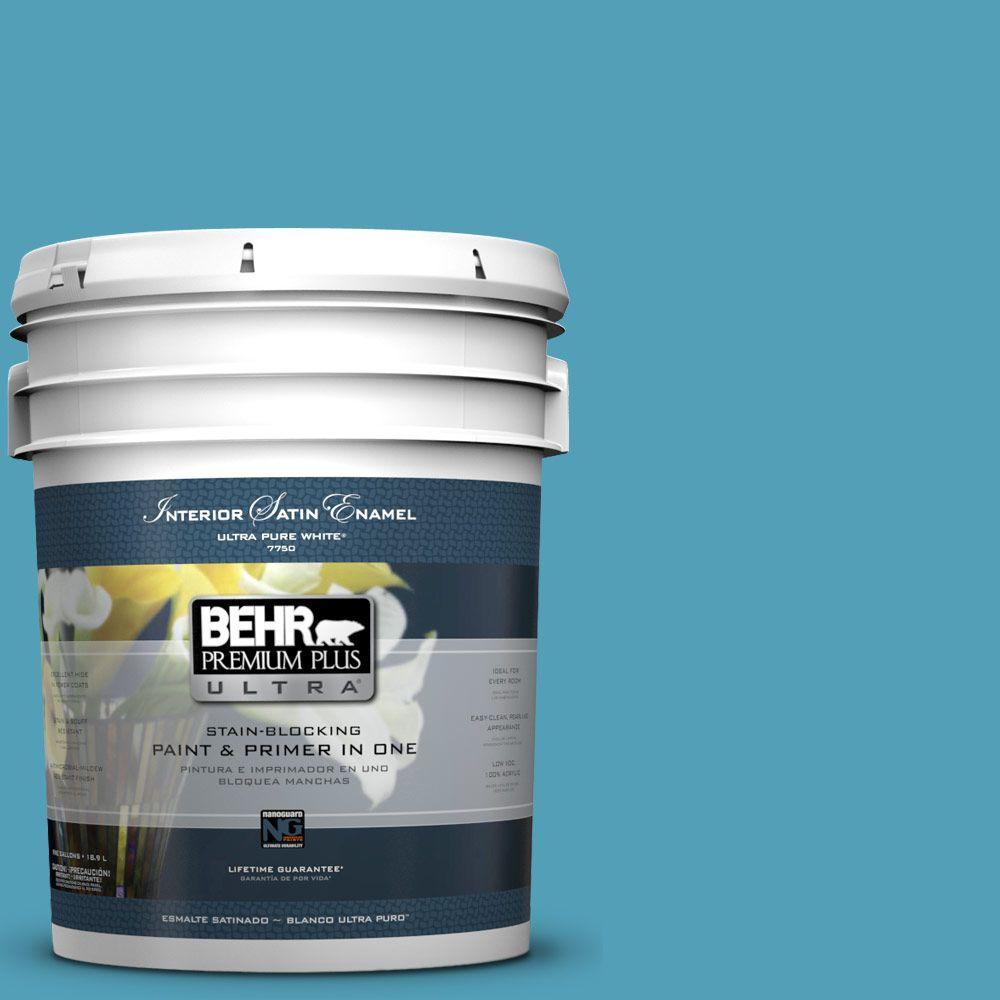 BEHR Premium Plus Ultra 5-gal. #M480-5 Eskimo Satin Enamel Interior Paint