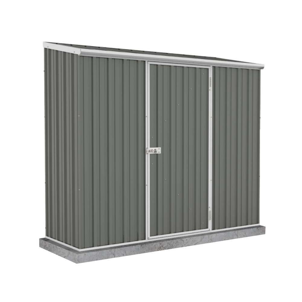 ABSCO Space Saver 7 ft. x 3 ft. x 6 ft. Gray Metal Woodland Shed