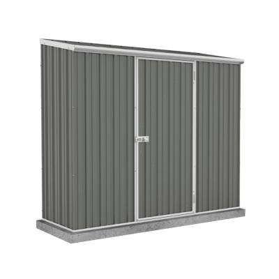 Space Saver 7 ft. x 3 ft. x 6 ft. Gray Metal Woodland Shed