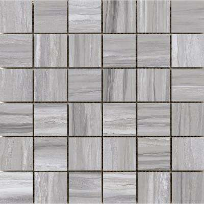Ciudad Gray 11.81 in. x 11.93 in. x 10mm Ceramic Mesh-Mounted Mosaic Tile