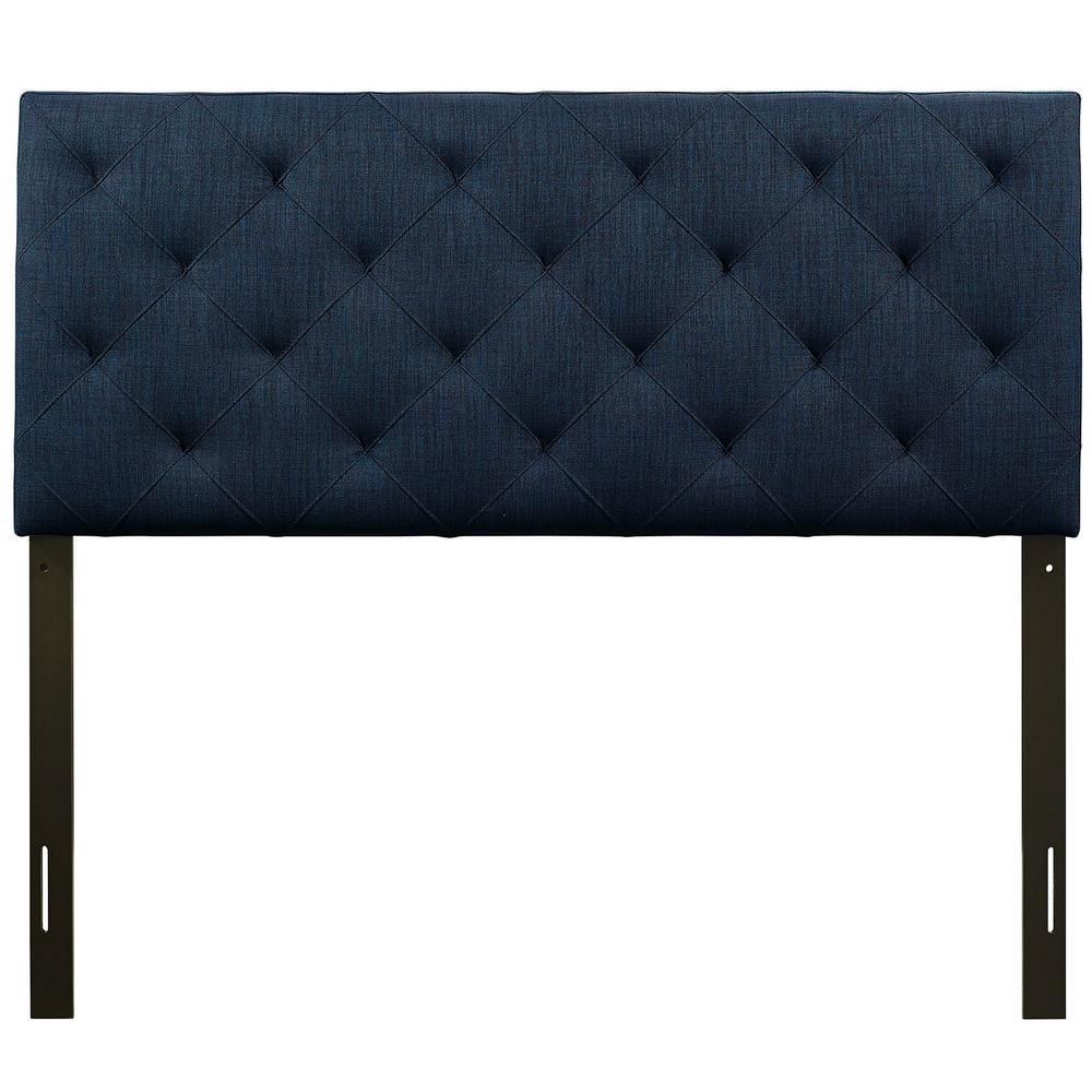 Theodore Navy Full Upholstered Fabric Headboard