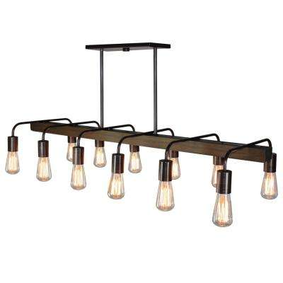 12-Light Brunito Bronze Billiard Light