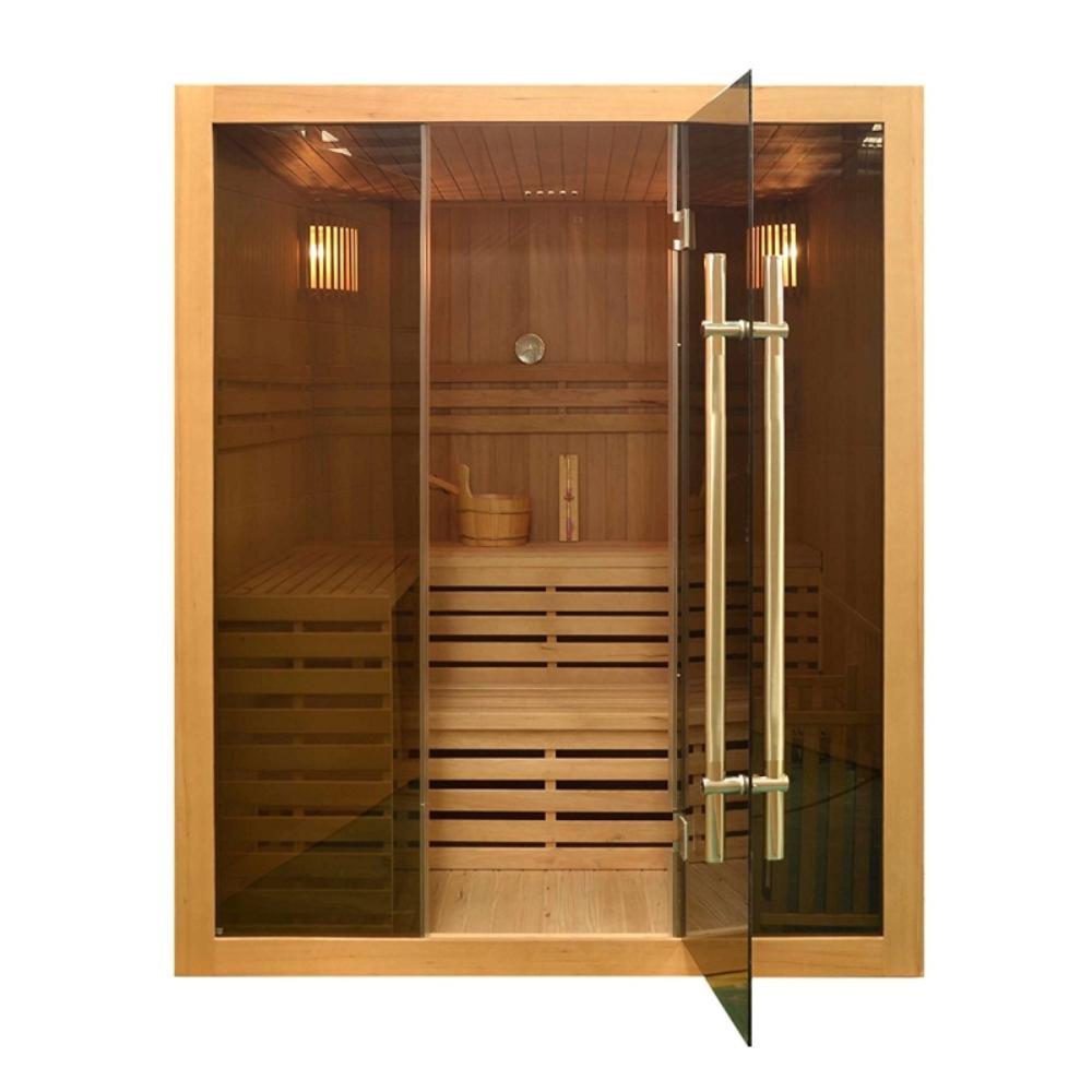4-Person Canadian Hemlock Wood Electric Heater Sauna