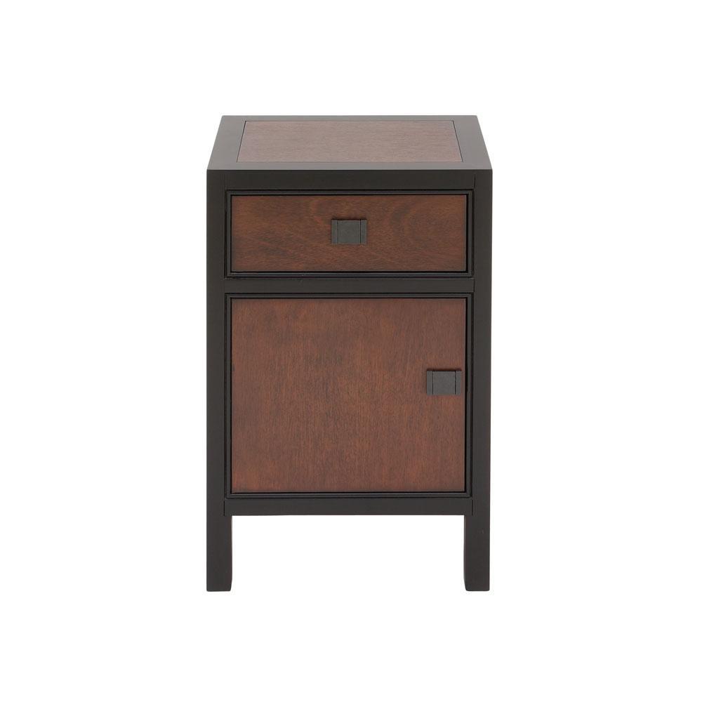 Modern Dark Brown Wooden Night Stand