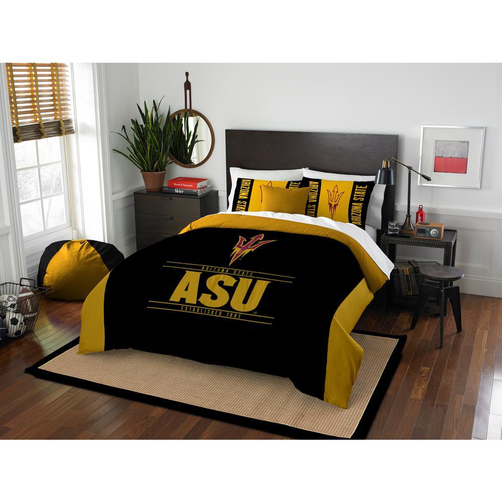 Arizona State 3 PC Modern Take MULTI FULL QUEEN Comforter Set