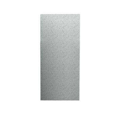 Tangier 1/4 in. x 36 in. x 96 in. One Piece Easy Up Adhesive Shower Wall in Tahiti Gray