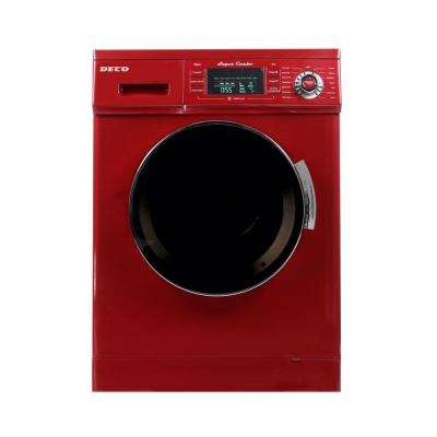 All-in-One 1.6 cu. ft. Compact Combo Washer and Electric Dryer with Optional Condensing/Venting Dry in Merlot