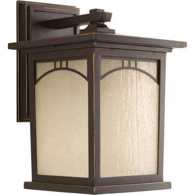 Residence Collection 1-Light Antique Bronze Outdoor Wall Mount Lantern