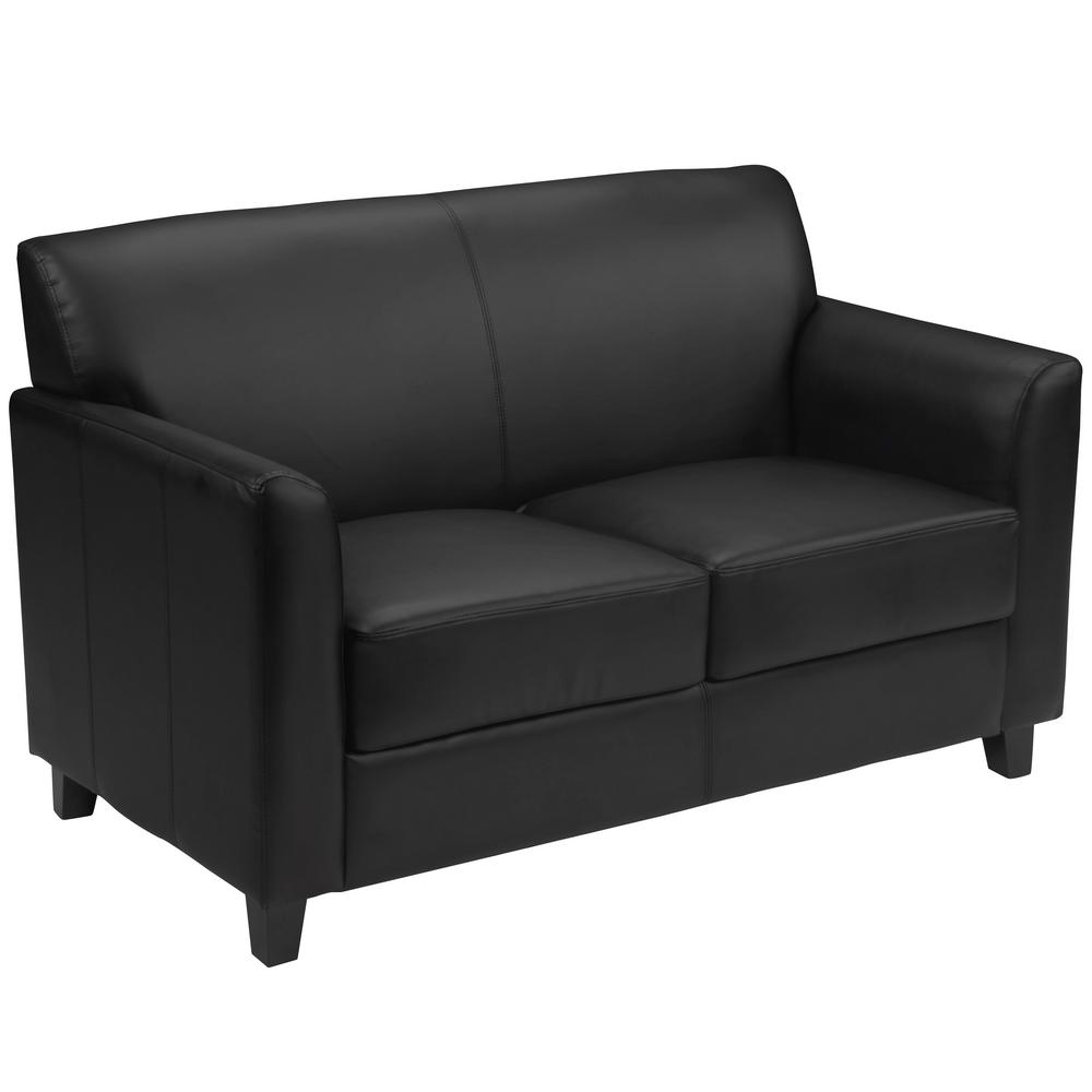 Fantastic Hercules Diplomat Series Black Leather Loveseat Gmtry Best Dining Table And Chair Ideas Images Gmtryco