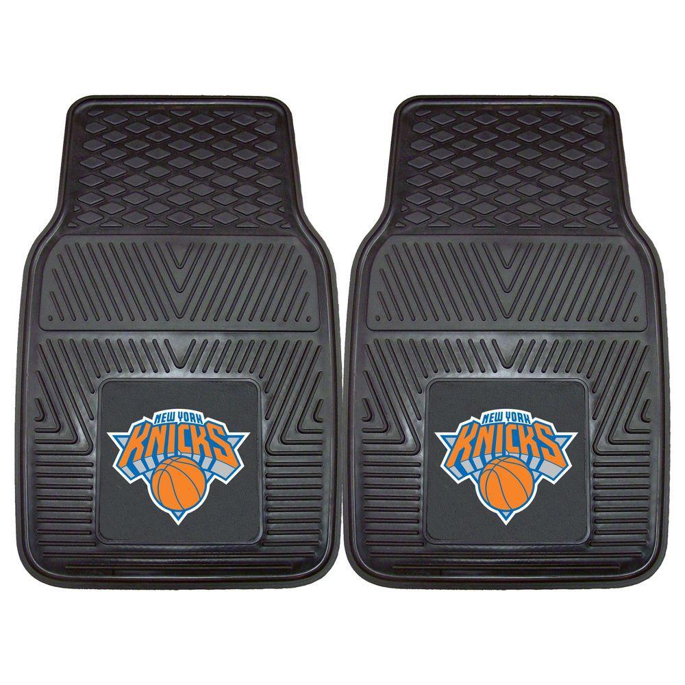 New York Knicks 18 in. x 27 in. 2-Piece Heavy Duty Vinyl Car Mat