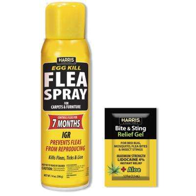 14 oz. 7 Month Egg Kill Flea Killer with Insect Bite Relief Gel Value Pack
