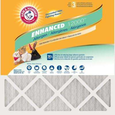 16 in. x 25 in. x 1 in. Odor Allergen and Pet Dander Control Air Filter (12-Pack)