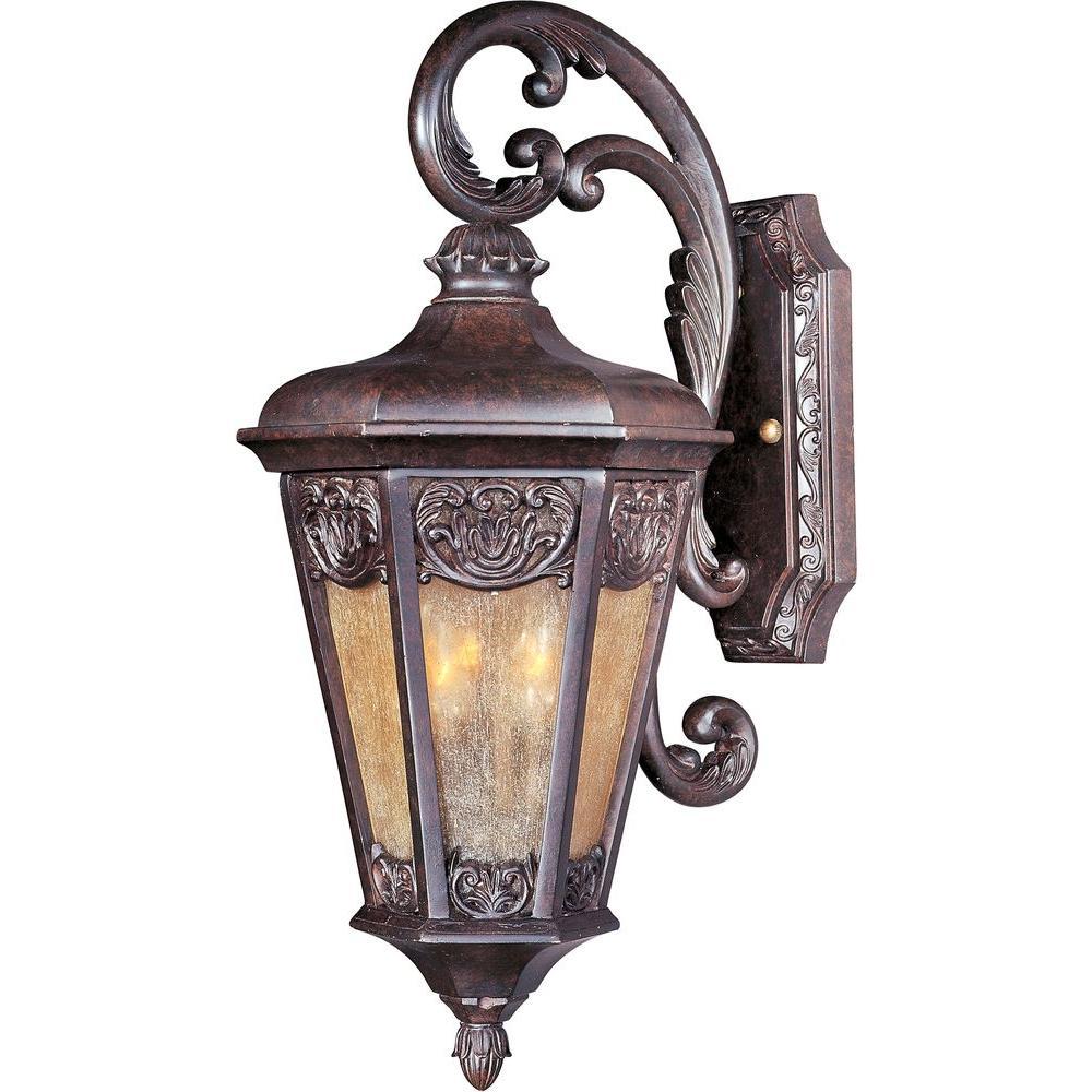 maxim lighting lexington vx 2 light colonial umber outdoor wall