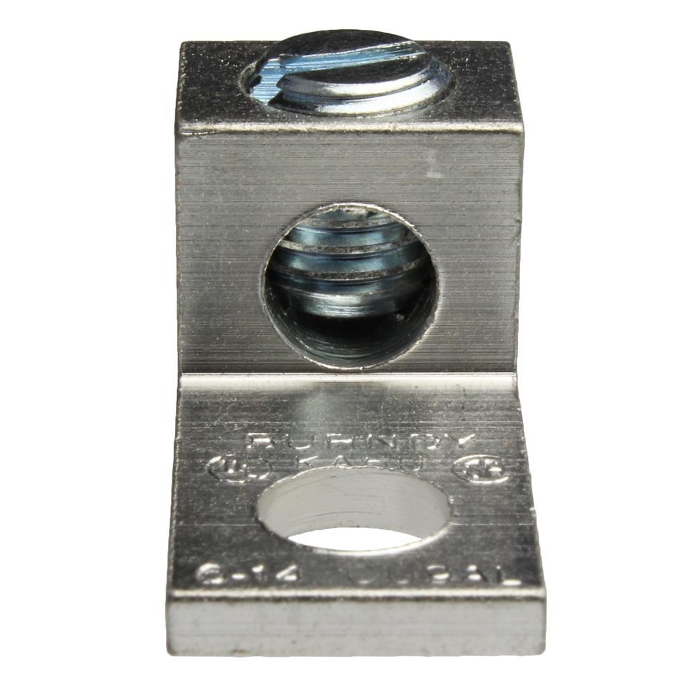 14 - 6 AWG Aluminum Dual Rated Mechanical Lug (5-Pack)