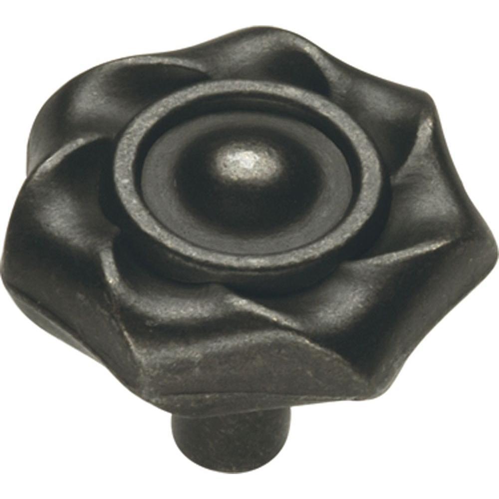 Charleston Blacksmith 1-1/4 in. Black Iron Cabinet Knob