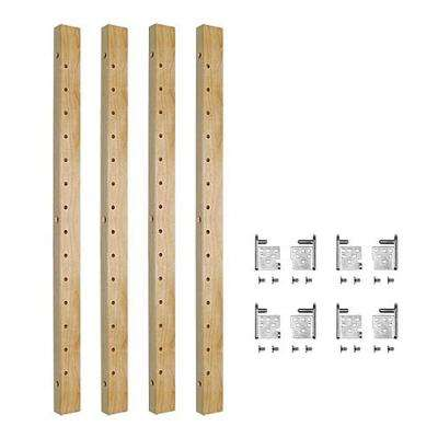 2-Shelf 28 in. L x 1-1/4 in. W Maple Pilaster Kit for Base Cabinet Adjustable Roll-Out Drawers