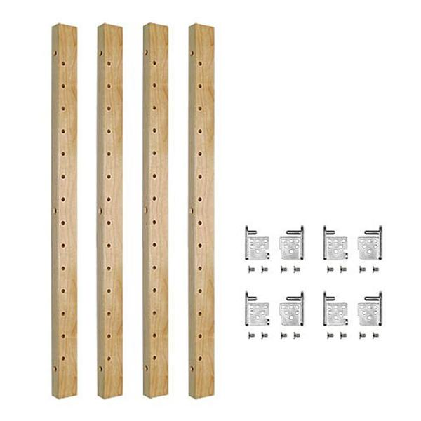 Century Components 2-Shelf 28 in. L x 1-1/4 in. W Maple Pilaster Kit for Base Cabinet Adjustable Roll-Out Drawers