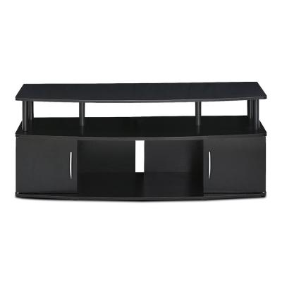 JAYA 47 in. Blackwood Particle Board TV Console Fits TVs Up to 50 in. with Cable Management