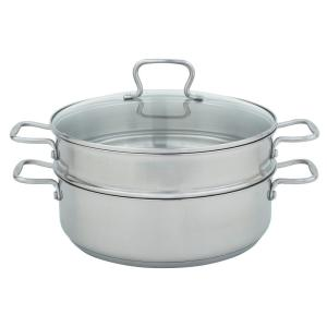 7 Qt. Mega Pan with Steamer in Stainless Steel