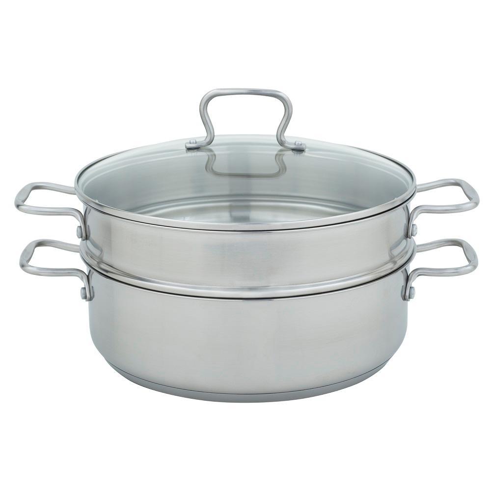 Range Kleen 7 Qt. Mega Pan with Steamer in Stainless Steel
