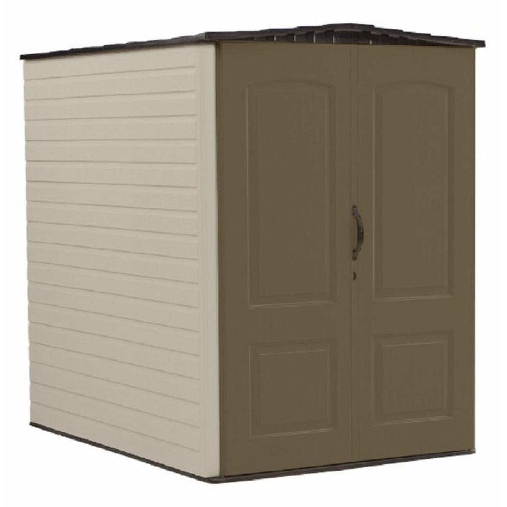 Rubbermaid Big Max 6 Ft. 3 In. X 4 Ft. 8 In. Resin Storage Shed 1967672    The Home Depot