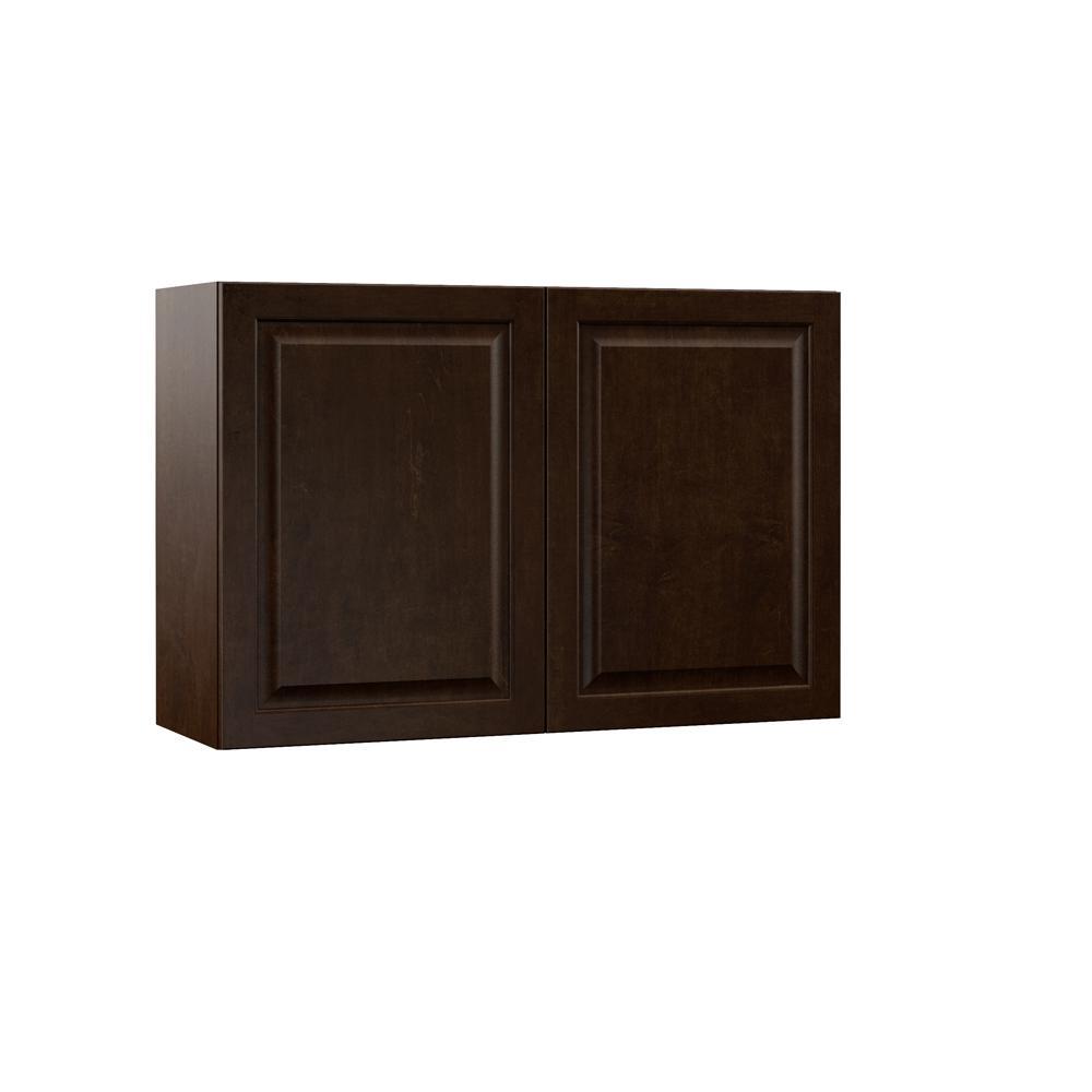 Gretna Embled 36x24x12 In Wall Bridge Kitchen Cabinet Espresso