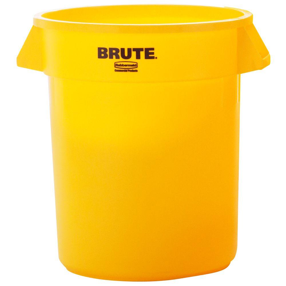 rubbermaid commercial products brute 20 gal yellow round trash can - Commercial Garbage Cans