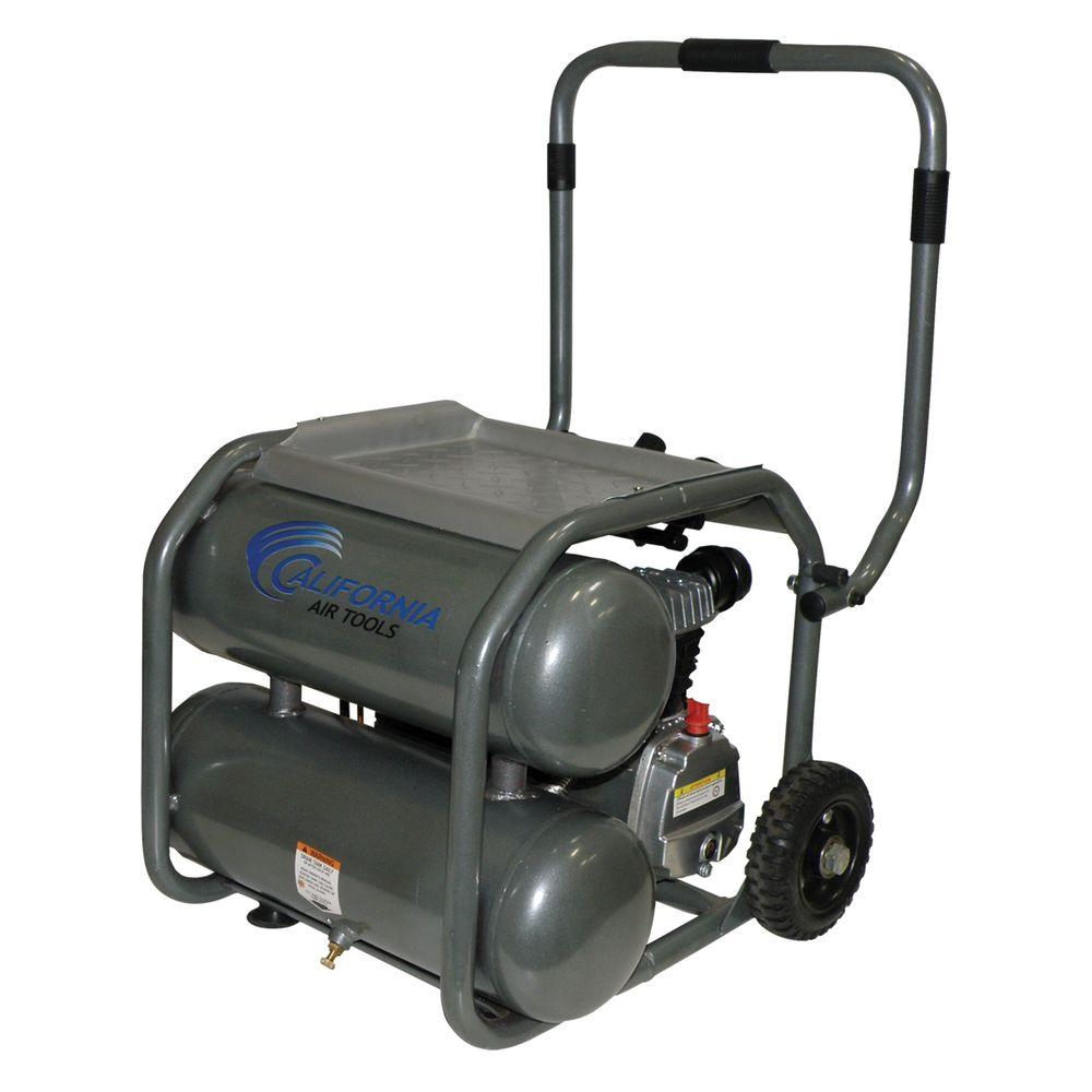 California Air Tools 5-Gal. 2 HP Steel Twin Tank Oil Lubricated Air-DISCONTINUED Compressor