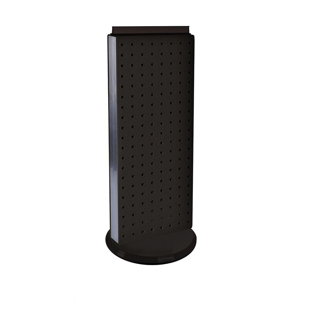 20 in. H x 8 in. W Pegboard Counter Display in Black Styrene