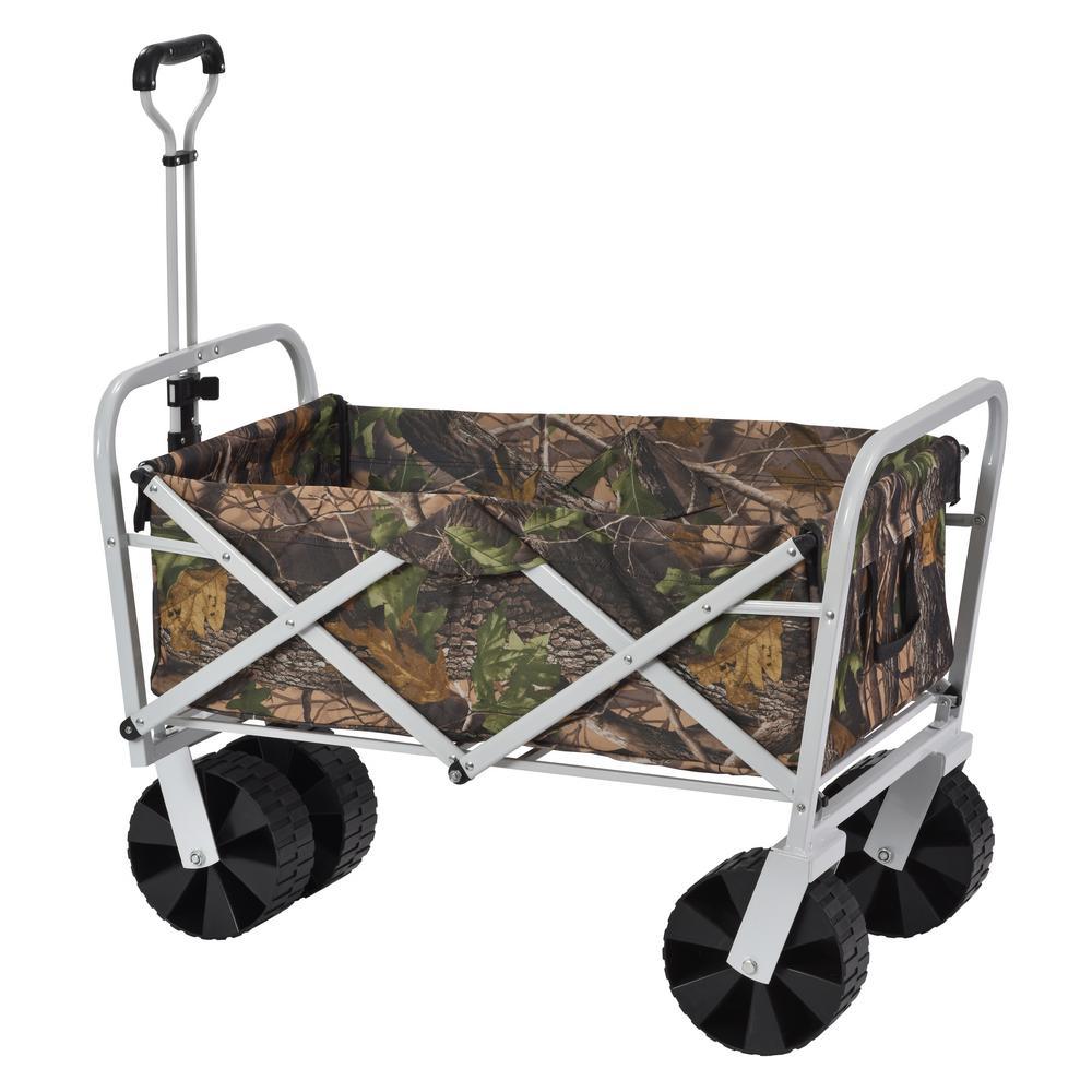 6 cu. ft. 25 in. W Steel Folding Utility Cart, 150 lb. Capacity