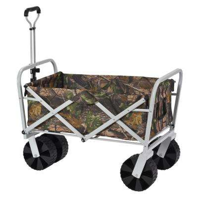 6 cu. ft. 25 in. W Steel Folding Utility Cart, 150 lb. Capacity