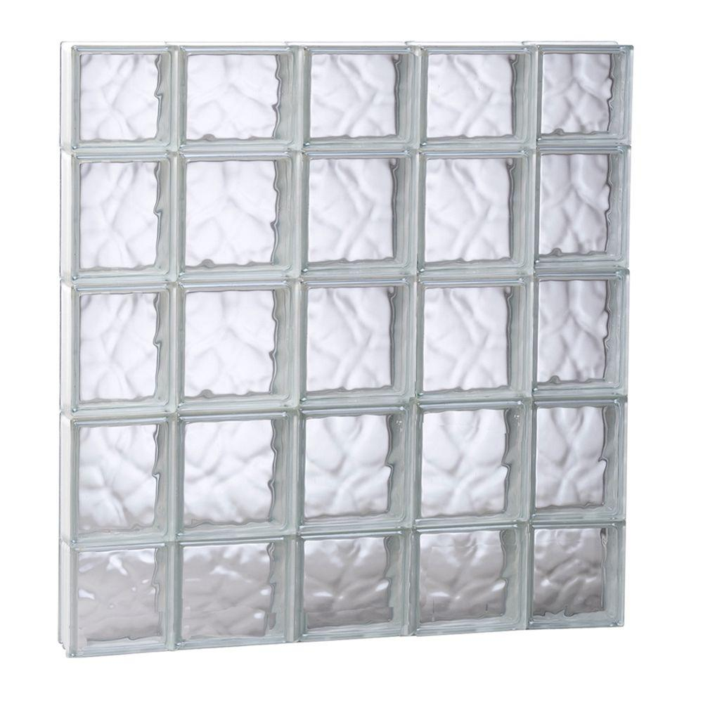 Clearly Secure 34.75 in. x 34.75 in. x 3.125 in. Frameless Wave ...