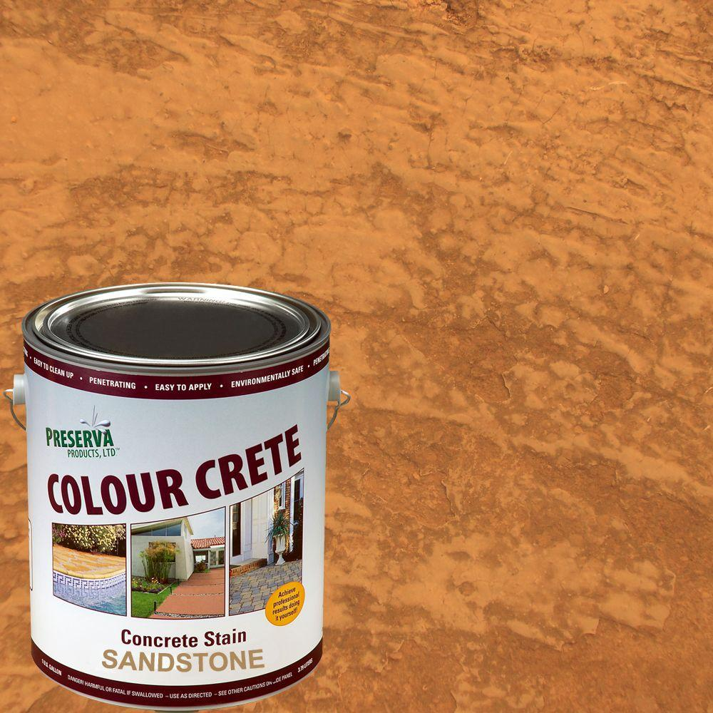 Colour Crete 1 Gal. Sandstone Semi-Transparent Water-Based Exterior Concrete Stain