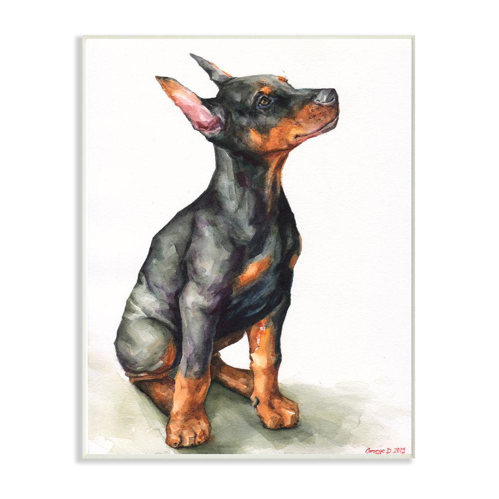 MINIATURE PINSCHER A Spoiled Rotten DOG SIGN wood WALL PLAQUE black puppy USA