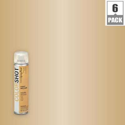 9 oz. Metallic First Million Gold General Purpose Aerosol Spray Paint (6 Pack)