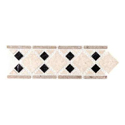 Bellagio 4 in. x 12 in. x 9 mm Marble Accent Strip