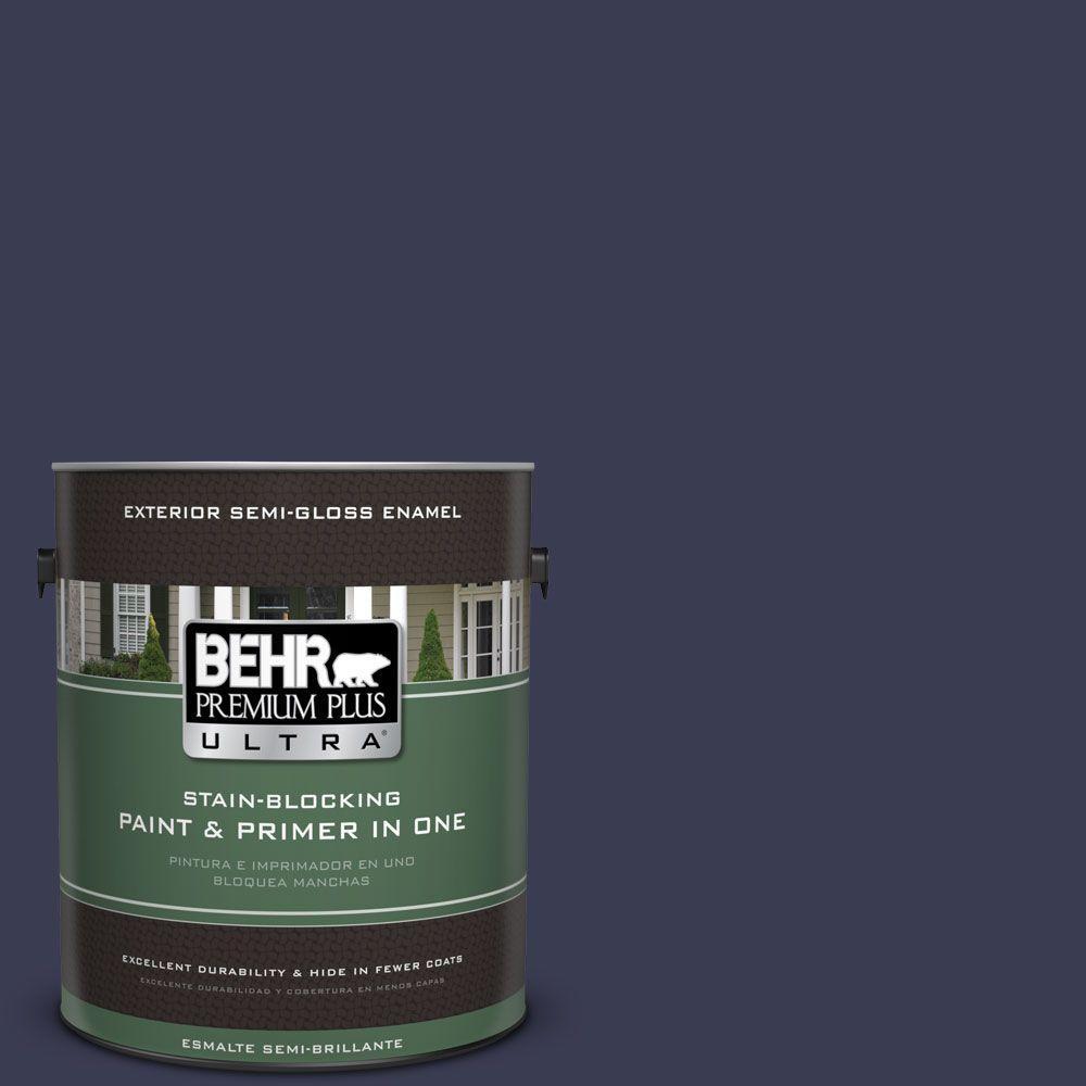 1 gal. #HDC-WR16-03 Blueberry Tart Semi-Gloss Enamel Exterior Paint