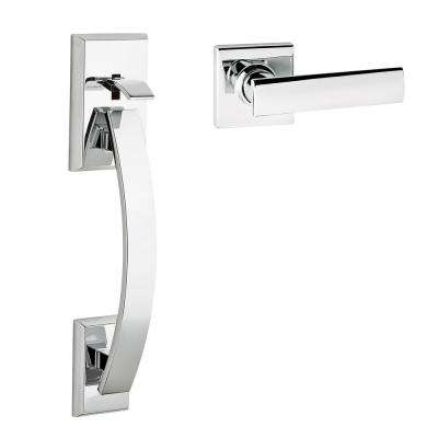 Tavaris Polished Chrome Handle Only without Deadbolt with Vedani Lever