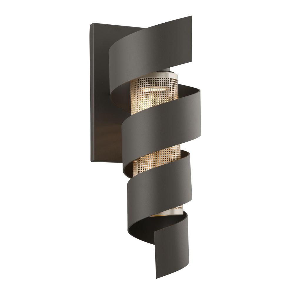 Wall Sconce With Integrated Switch : Vortex Bronze Outdoor Integrated LED Wall Mount Sconce-B4265 - The Home Depot