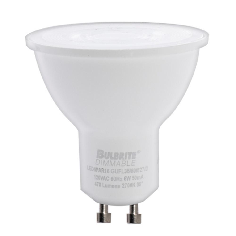 Bulbrite 60-Watt Equivalent Light PAR16 Dimmable Twist and Lock Bi-Pin LED Light Bulb Soft White