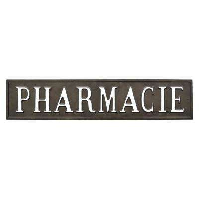 Black Metal Novelty Sign-Pharmacie