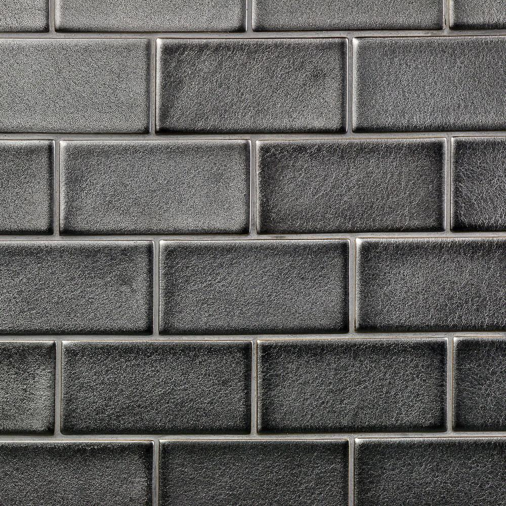 Ivy Hill Tile Oracle Gunmetal 3 In X 6 Polished Ceramic Subway 1 Sq Ft
