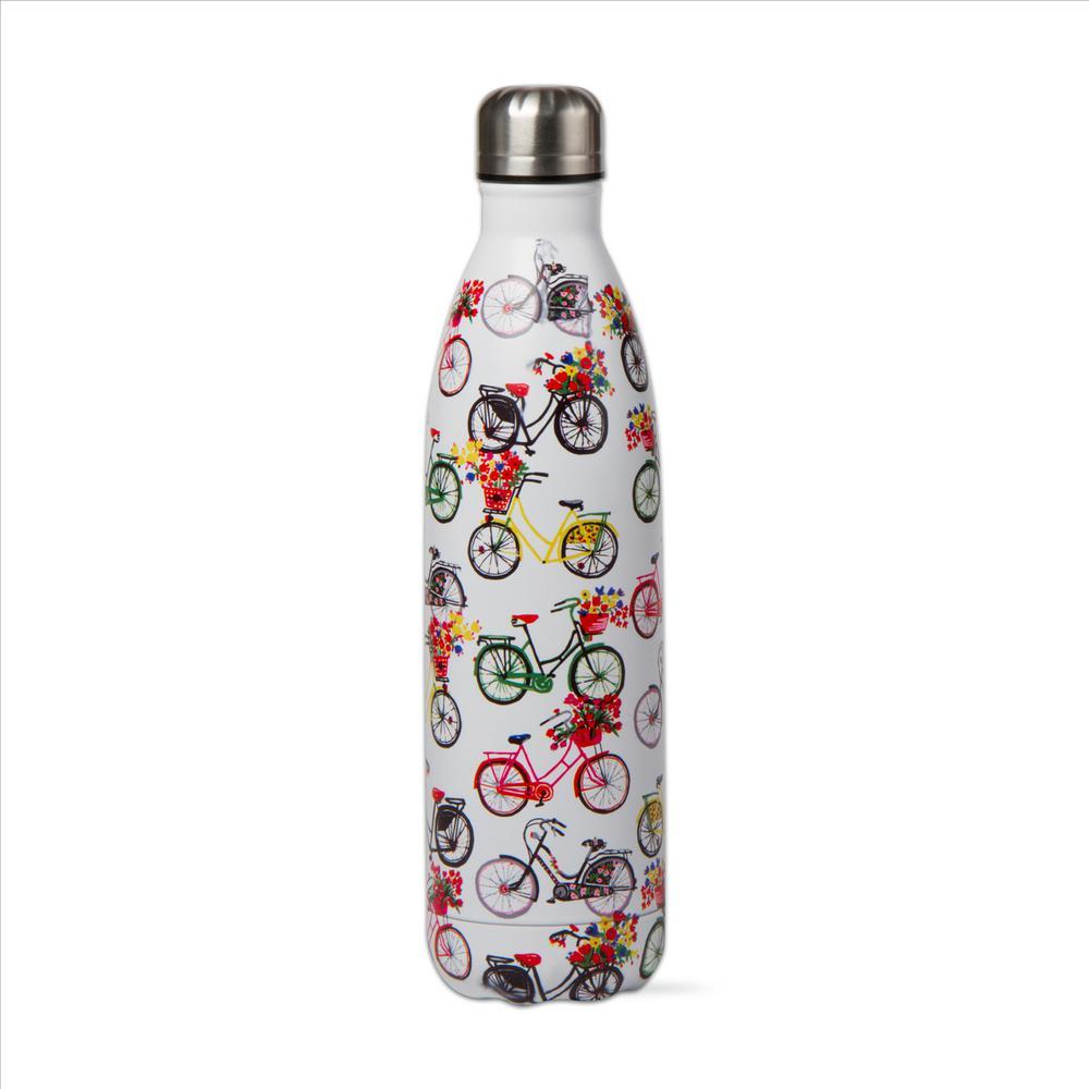 Bike Rider 16 oz. White Stainless Steel Bottle
