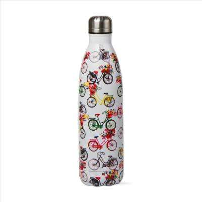 Bike Rider 16 oz. White Stainless Steel Bottle