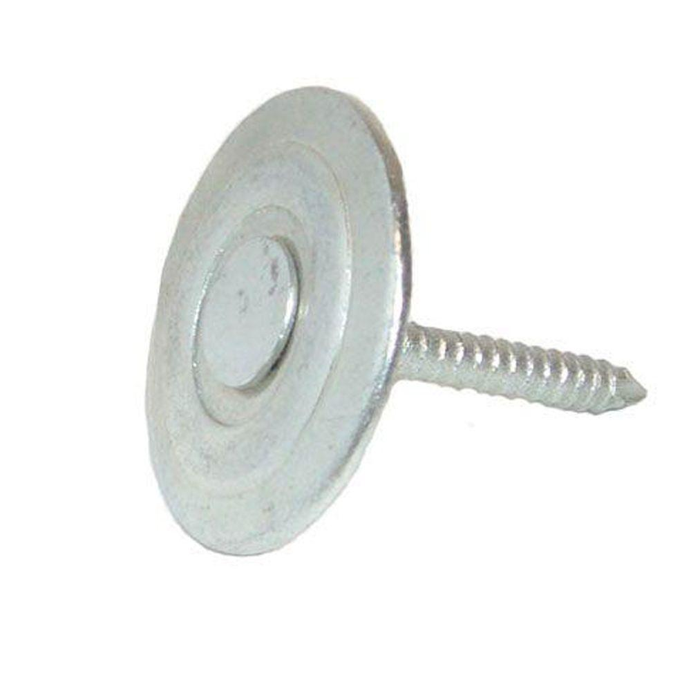 Superb Grip Rite #12 X 1 In. Electro Galvanized Roofing Nails With Metal