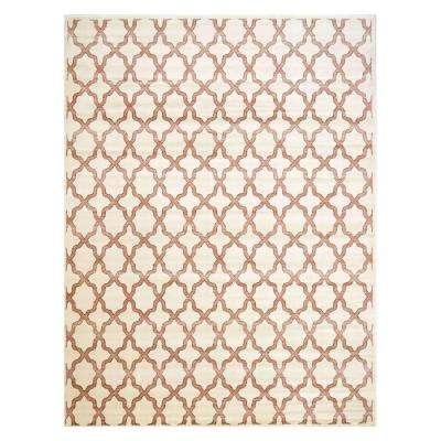 Fret Ivory 7 ft. 10 in. x 10 ft. 2 in. Area Rug